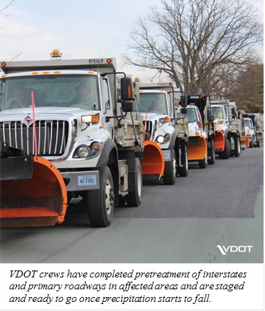 VDOT Plow Trucks are Ready to Roll!