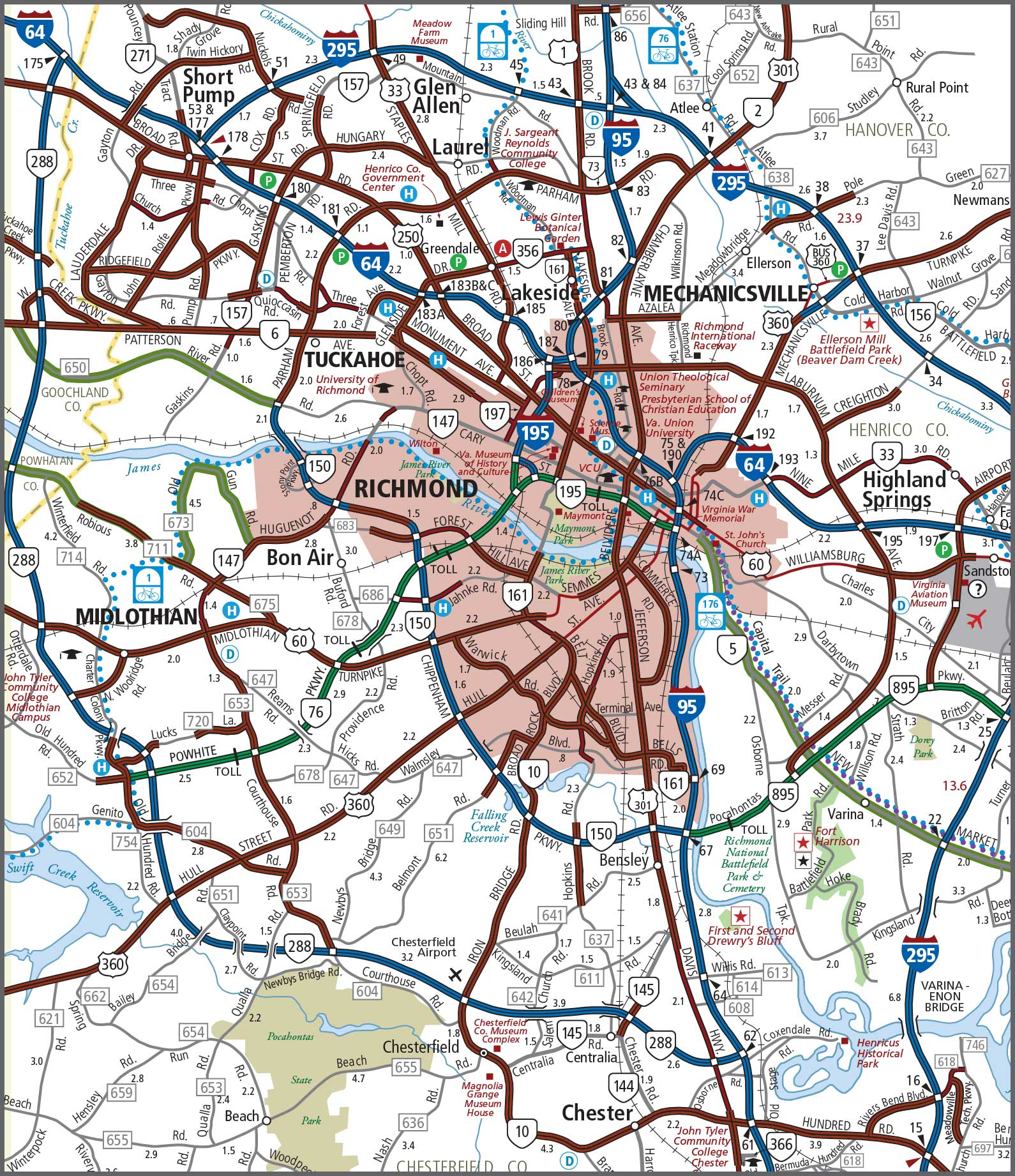 Richmond Va City Map Submited Images